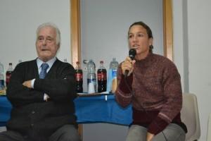 Festa dell'Atleta (il presidente Giuseppe Carmignani con Silvia Bosurgi)