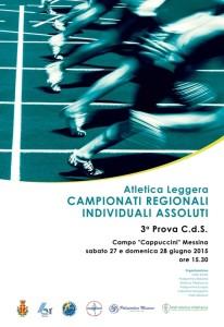 Locandina CAMPIONATI REGIONALI INDIVIDUALI ASSOLUTI 27-28 giugno Messina